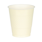 20 Cups Plastic Vanilla Crème 355ml