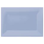 3 Platters Plastic 33 x  23 cm Pastel Blue