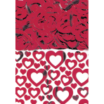 Confetti Heart Shimmer Red 14 g