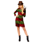 Adult Costume Freddy Kruger Ladies Size S