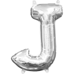 MiniShape Letter J Silver Foil Balloon L16 Packaged