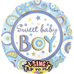 Sing-A-Tune Sweet Baby Boy Foil Balloon P60 Packaged
