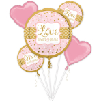 """Bouquet """"Sparkling Wedding"""" 5 Foil Balloons, P75, packed"""