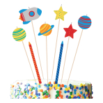 Set of Candles Blast Off Height 24.1 cm / 13.9 cm / 10.1 cm
