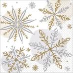 16 Napkins Shining Snow 25 x  25 cm