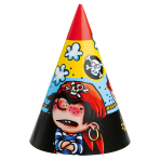 6 Party Cone Hats Piraates!