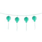 Garland Honeycomb Happy Birthday Pastel Turquoise Paper 180 cm