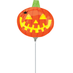 Mini Shape Pumpkin with SpiderFoil Balloon A30 Air Filled
