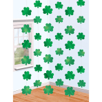 6 String Decorations Shamrock Foil 213 cm