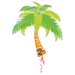 SuperShape Summer Scene Palm Tree Foil Balloon P30 Packaged 74 x 83 cm