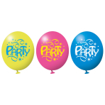 6 Latex Balloons Ballon Party 22.8 cm/9''