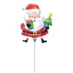 Mini Shape Santa with Tree Foil Balloon A30 Bulk