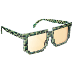 Fun Shades Pixel Green Plastic 14.6 x 4.7 cm