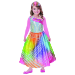 Children's Costume Barbie Rainbow Magic with pink sleeves and tiara 8-10 years