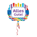 "SuperShape ""Alles Gute"" Foil Balloon, P35, packed, 63 x 55cm"