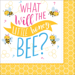 16 Napkins What Will It Bee? 33cm