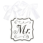 Hanging Sign With Ribbon Mr. MDF 23.8 x 24.7 cm