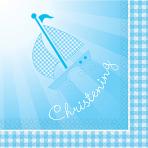 16 Napkins Christening Booties- Blue 33 x 33 cm