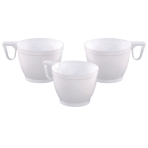 10 Coffee Cups white Plastic