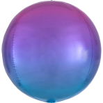 Ombré Orbz Red & Blue Foil Balloon G20 packaged