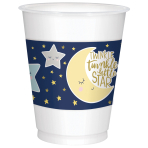 25 Cups Twinkle Little Star Plastic 473 ml
