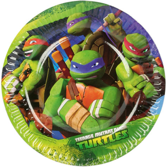 8 Plates Teenage Mutant Ninja Turtles 18 cm