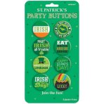 8 Buttons St. Patrick's Day Metal 3.8 cm