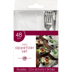 48 Mini Appetizer Set Plastic