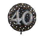 Multi Balloon Sparkling Birthday 40 Foil Balloon P75 Packaged 81 x 81 cm