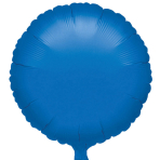 "Standard ""Metallic Blue"" Foil Balloon Round, S15, packed, 43cm"