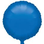 "Standard ""Metallic Blue"" Foil Balloon Round, S15, packed, 43cm"