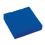20 Napkins Bright Royal Blue 25 x 25 cm