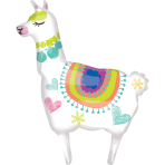 Supershape Llama Foil Balloon P35 packaged 71cm x 104cm