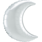 SuperShape White Satin Crescent Foil Balloon S40 Bulk