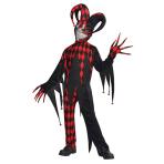 Child Costume Krazed Jester Age 8 - 10 Years
