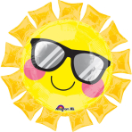 """SuperShape """"Fun in the Sun"""" Foil Balloon, P30, packed, 68 x 68cm"""