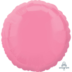 "Standard ""Bright Bubble Gum Pink"" Foil Balloon Round, S15, packed, 43cm"