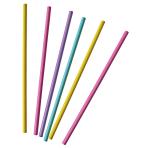30 Straws Neon Paper assorted 19.7 cm