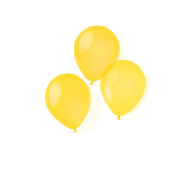 4d8350ec936f3 100 Latex Balloons Yellow 22.8 cm 9     Amscan Europe