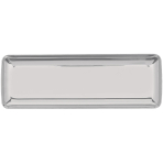 11 Mini Rectangular Trays Plastic White 6.3 x 19 cm