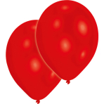 "10 Latex Balloons Standard Red 27.5 cm / 11"""