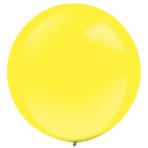 "4 Latex Balloons Decorator Standard Yellow Sunshine 61 cm / 24"""