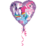 Standard My Little Pony Heart Foil Balloon S60 Packaged 43 cm