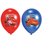 6 Latex Balloons Cars 27.5 cm / 11""