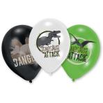 """6 Latex Balloons Dinosaur Attack 27,5cm/11"""""""