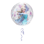 Orbz Frozen Clear Foil Balloon G40 Packaged 38 x 40 cm