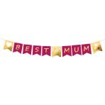 Pennant Banner Best Mum Paper 180 x 15 cm
