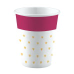 8 Cups Everyday Love Small Hearts Paper 250 ml
