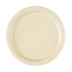 8 Plates Paper Vanilla Creme 22.8 cm