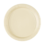 8 Plates Vanilla Creme Paper Round 22.8 cm